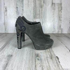 GIANNI BINI gray heeled bootie